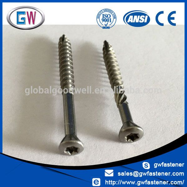 Different Size 8 10 12 14 Stainless Steel Torx Drive Wood Deck Screw Wood Deck Stainless Steel Screws Deck Screws
