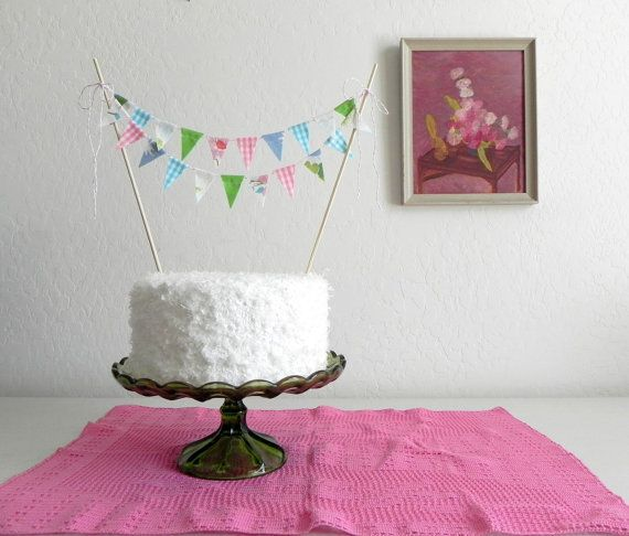 so cute to put on a birthday cake Happy Birthday Fabric Cake
