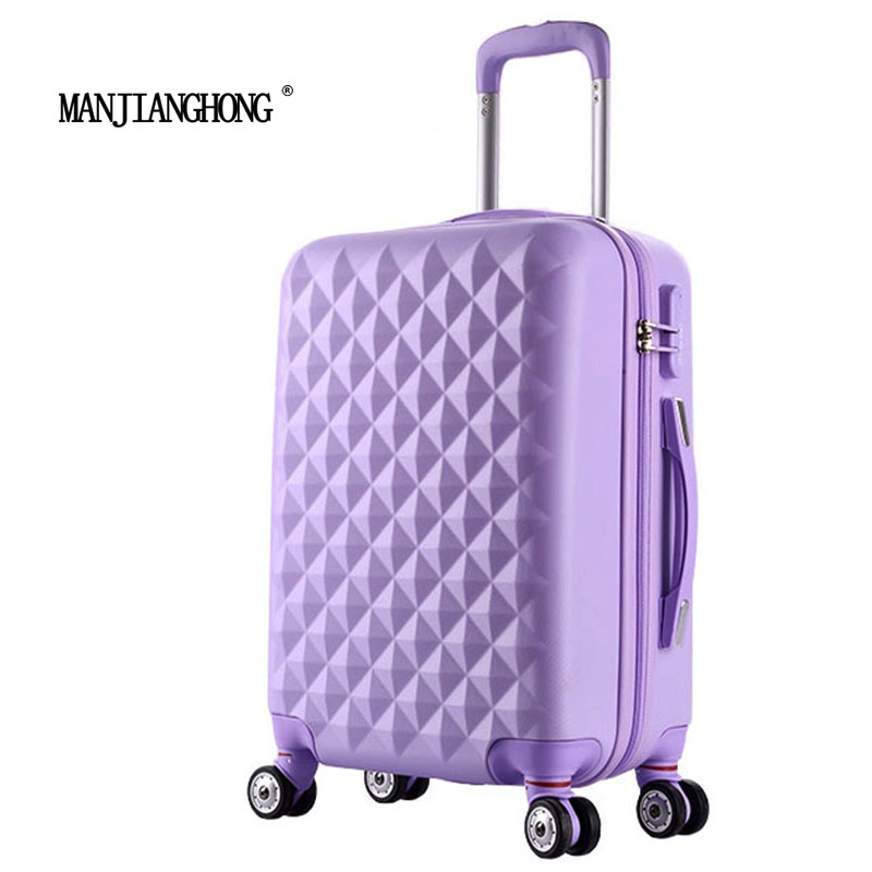 """76.74$  Buy now - http://aliww1.worldwells.pw/go.php?t=32708590241 - """"24"""""""" High quality Diamond lines Trolley suitcase /travell case luggage/Pull Rod trunk rolling spinner wheels/ ABS+PC boarding bag"""" 76.74$"""