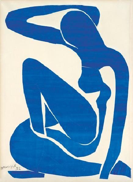 © Henri Matisse, Nu bleu (I), 1952; Fondation Beyeler, Riehen / Bâle; Photo: Robert Bayer, Basel; © Succession Henri Matisse / DACS 2013.