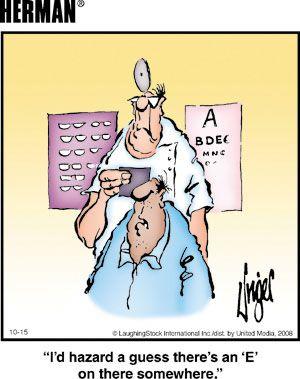 Herman again at the eye doc! Ha