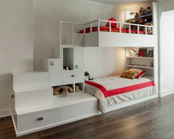 Das richtige hochbett mit treppe im kinderzimmer weiß lagerung ...