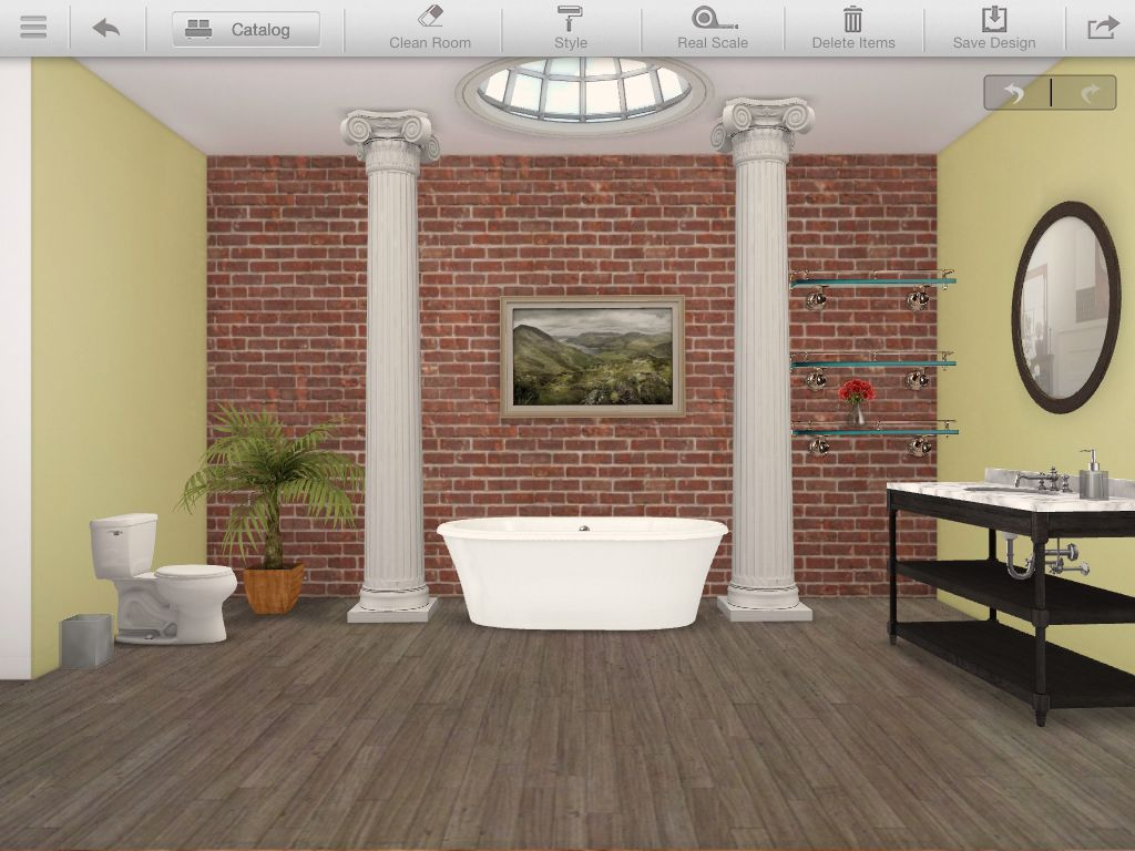 Bathroom made by the Homestyler App Diy projects to