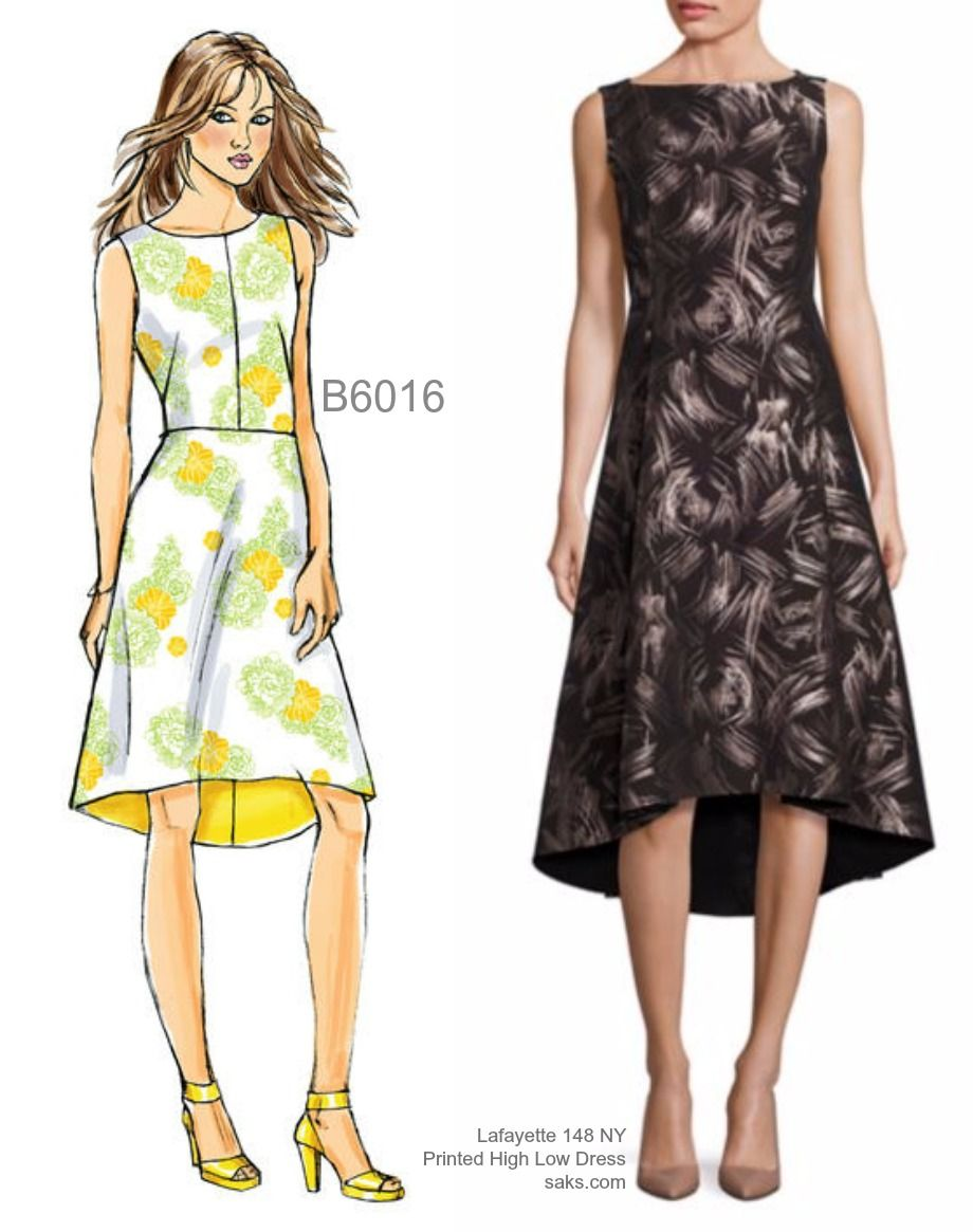 Sew the Look: Butterick B6016 hi-low dress sewing pattern | \