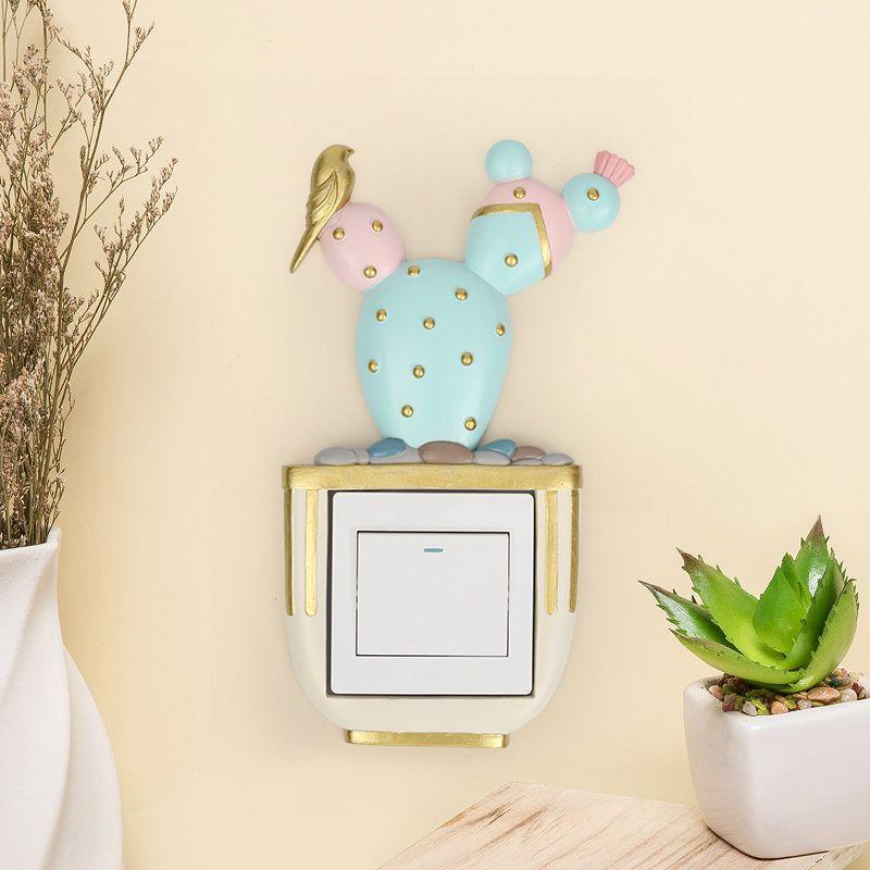 Goedkope ROOGO Cactus Schakelaar Socket Stickers Kinderen slaapkamer ...