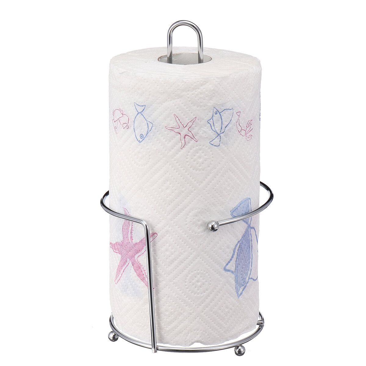 100% BRAND NEWThis Kitchen Roll Pole will make a stylish addition to any kitchen.It's strong and durable design keeps kitchen towels protectedfrom spillages.Features:Stylish and functional paper towel holderBeautiful brushed Stainless Steel finishStrong and durableBase protects your work surfacesDimensions: 26cm x 14cm x 14cm