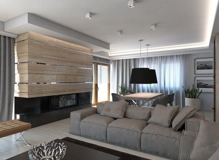 Wandgestaltung im Wohnzimmer \u2013 85 Ideen und moderne Beispiele