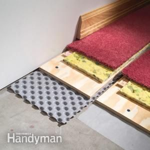 Great solution for carpeting basements.