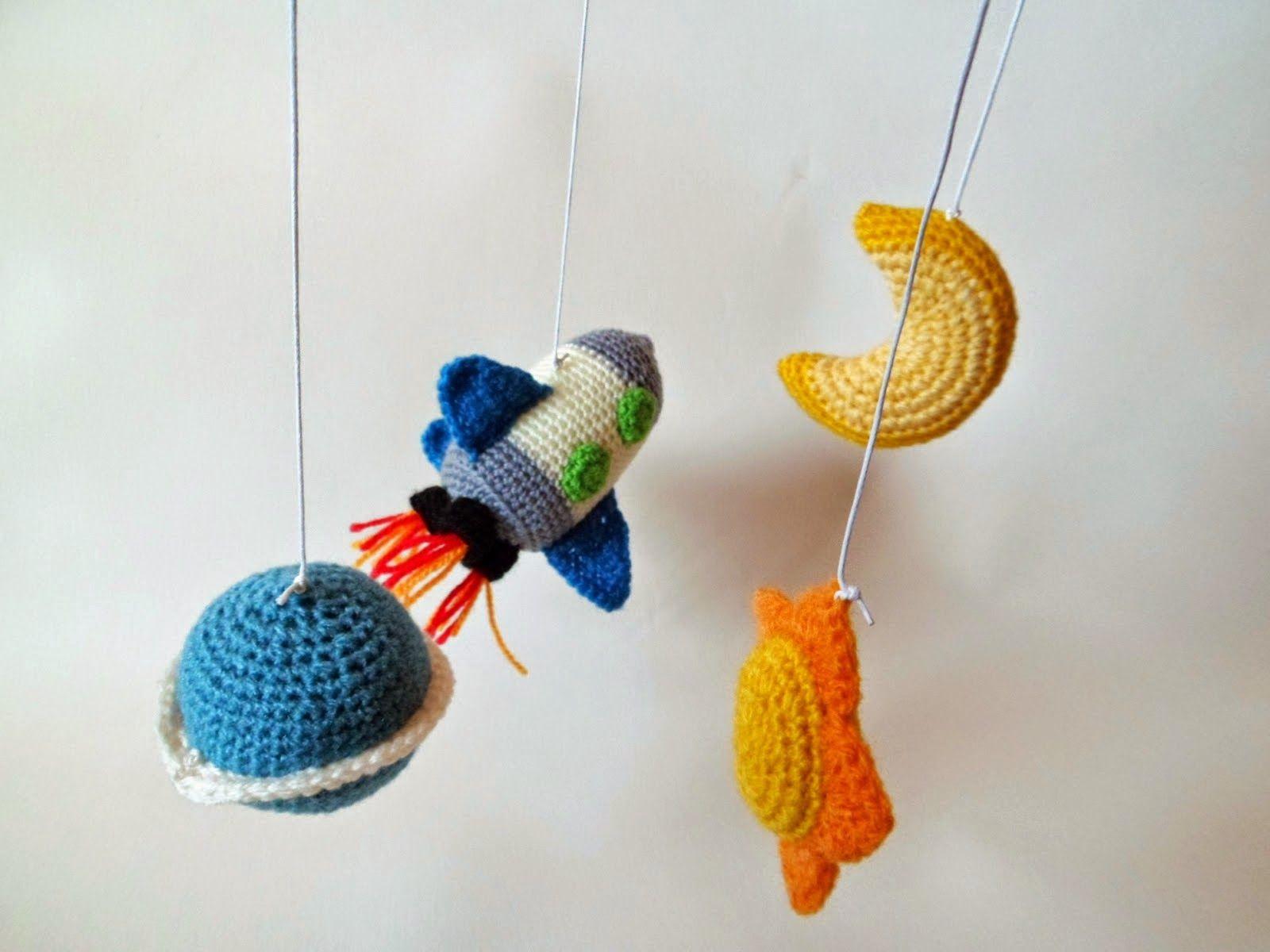 Patrón Luna Amigurumi | Amigurumis | Pinterest | Moviles para bebes ...