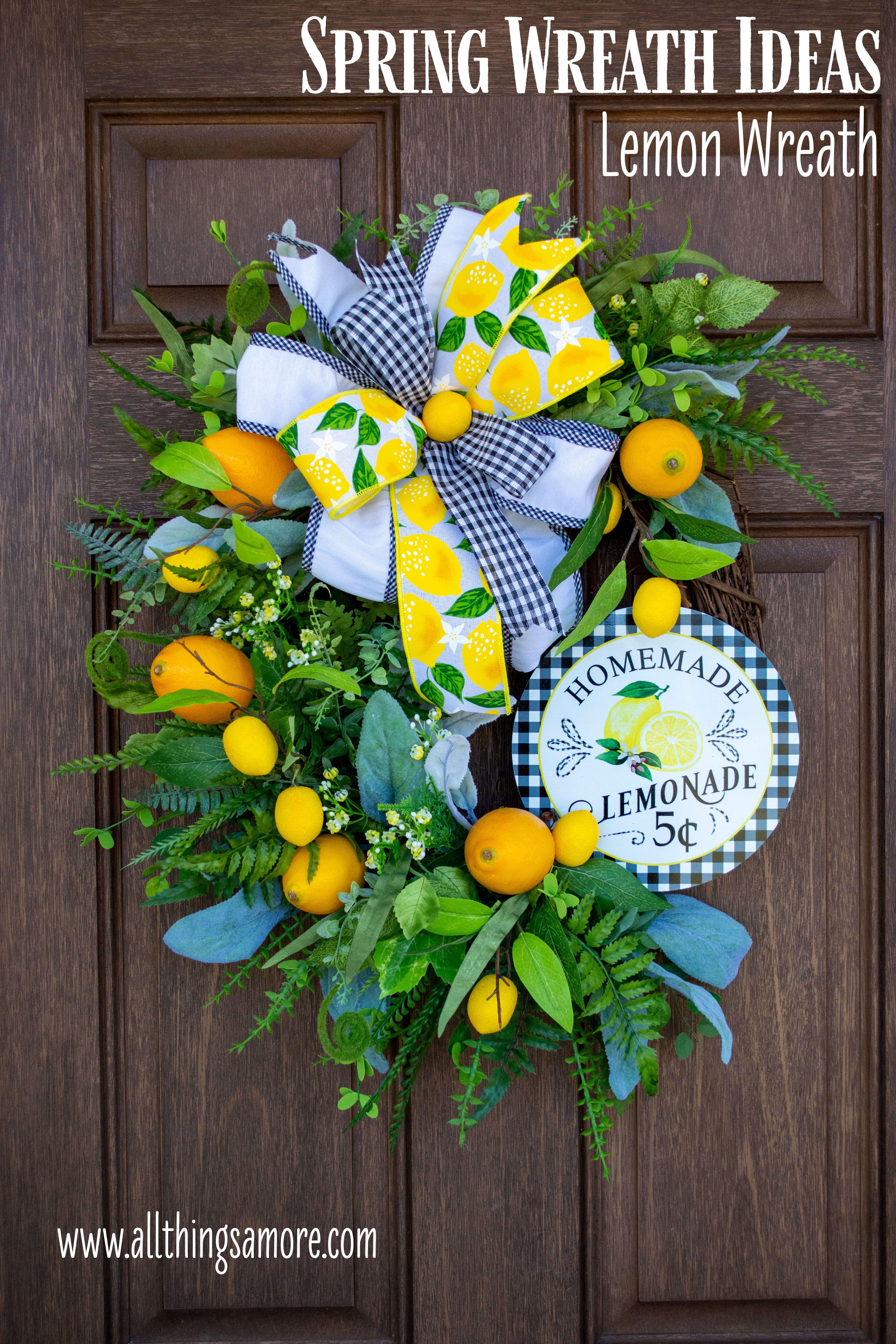 Photo of Lemon Wreath, Lemon Decor, Lemonade Wreath, Kitchen Decor