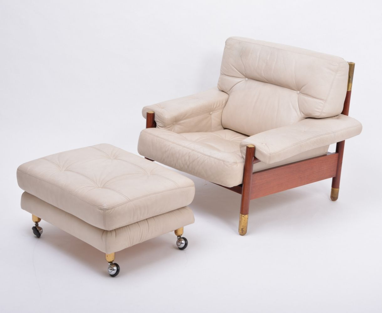 For sale MidCentury Modern lounge chair with Ottoman