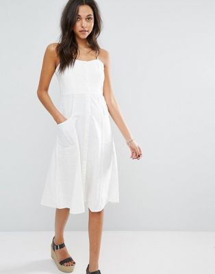 01c23baf Mango Button Up Midi Dress | dresses//rompers | Dresses, White midi ...