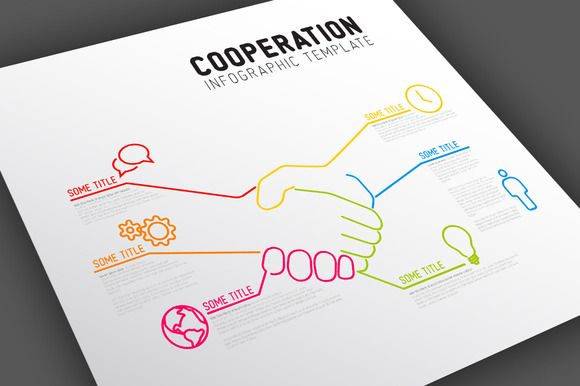 Cooperation Infographic Template by Orson on @creativemarket My - it company profile template
