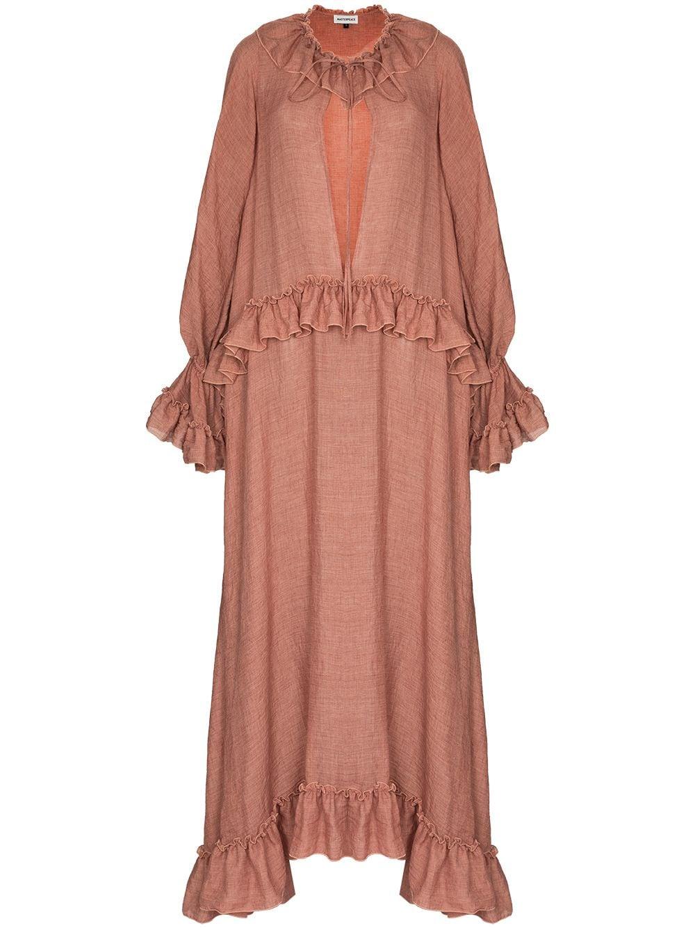 Masterpeace Ruffled Cotton Maxi Dress Farfetch Maxi Dress Cotton Dresses Maxi Dress [ 1334 x 1000 Pixel ]