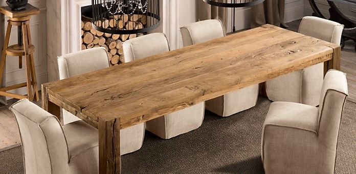 Parsons Table Restoration Hardware But Made Of Reclaimed Pine Not Oak