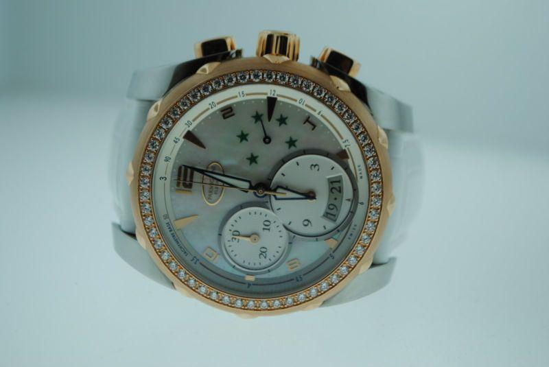 Parmigiani Pershing Brasil 18KStainless Steel Diamond Watch PFC528