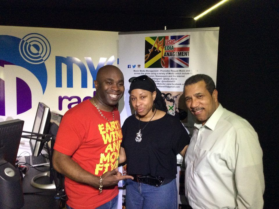 Radio host Mixmaster J, CEO of the Jamaica Gleaner & Voice Newspaper UK and myself (Music Media Management) on the Certified Reggae Drivetime Show Mon May 16th 2016.