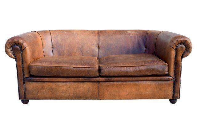 French Distressed Leather Sofa Distressed Leather Sofa Brown