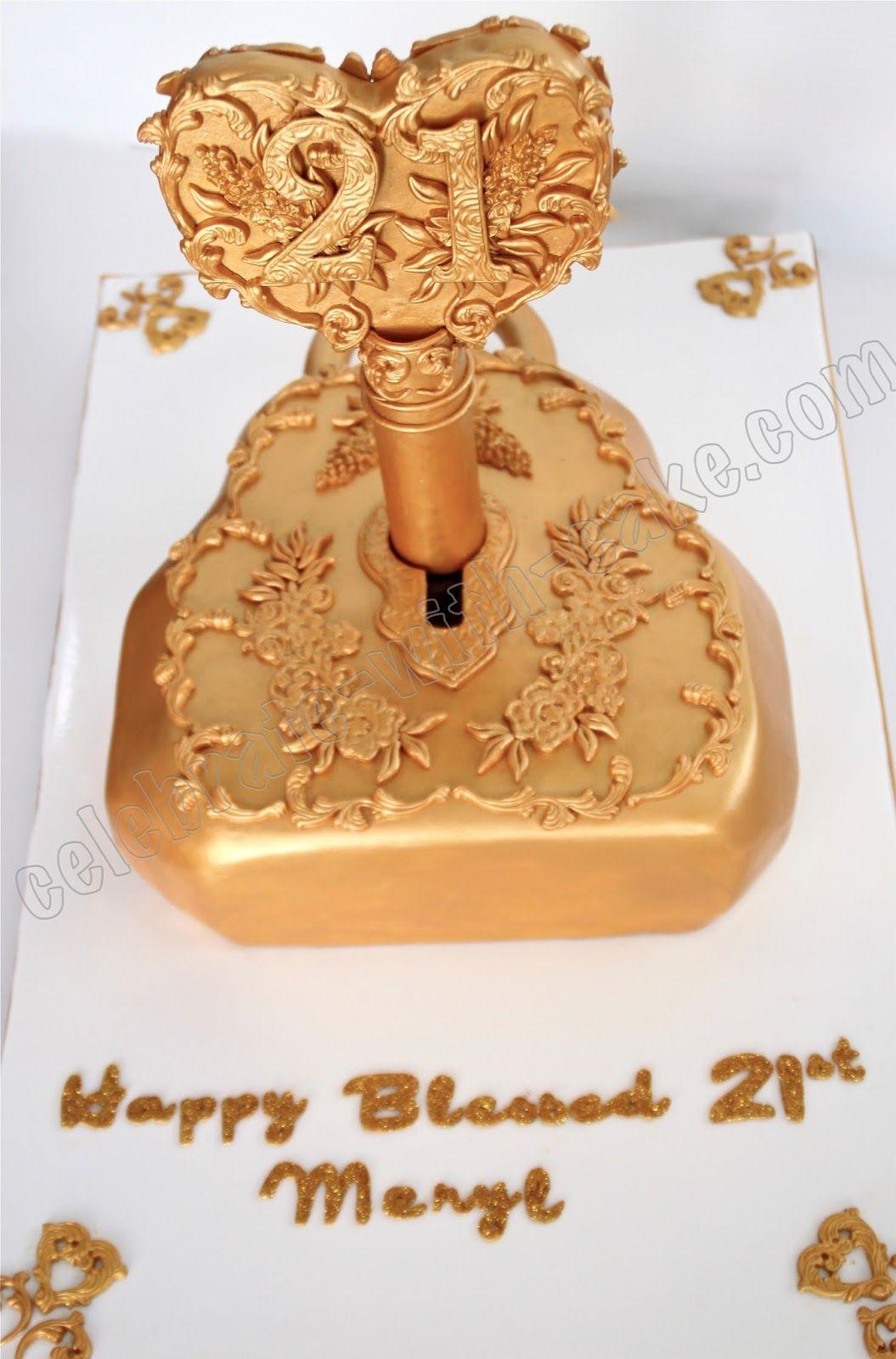 21st Birthday Vintage Lock & Key Cake 21st birthday