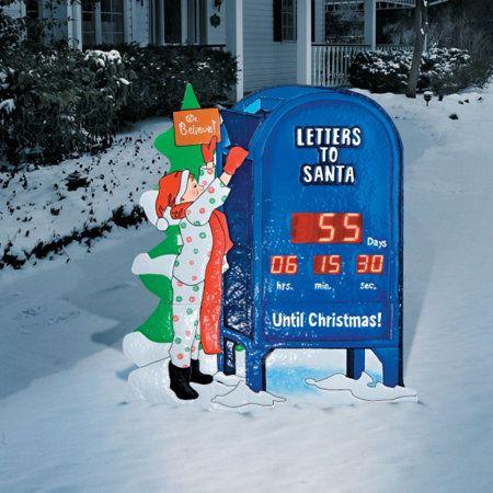 Christmas Countdown Clock Christmas Clock Outdoor Christmas Decorations Christmas Countdown