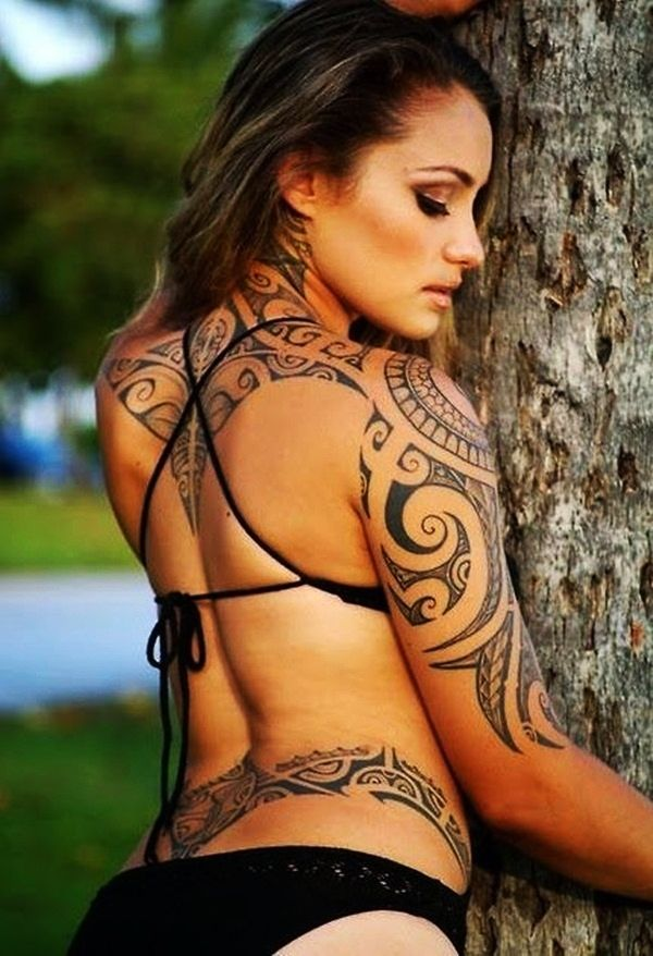 Lower back tribal tattoo designs