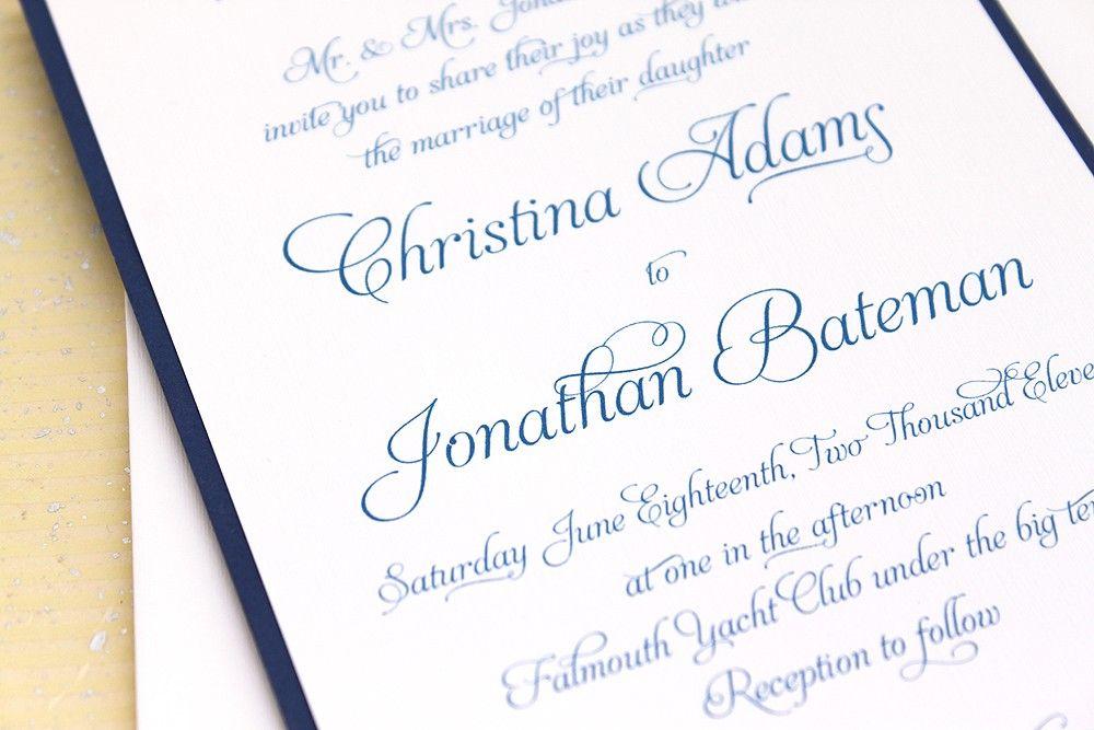 Wedding Invitation Elegant Script Sample Set by ConcertinaPress