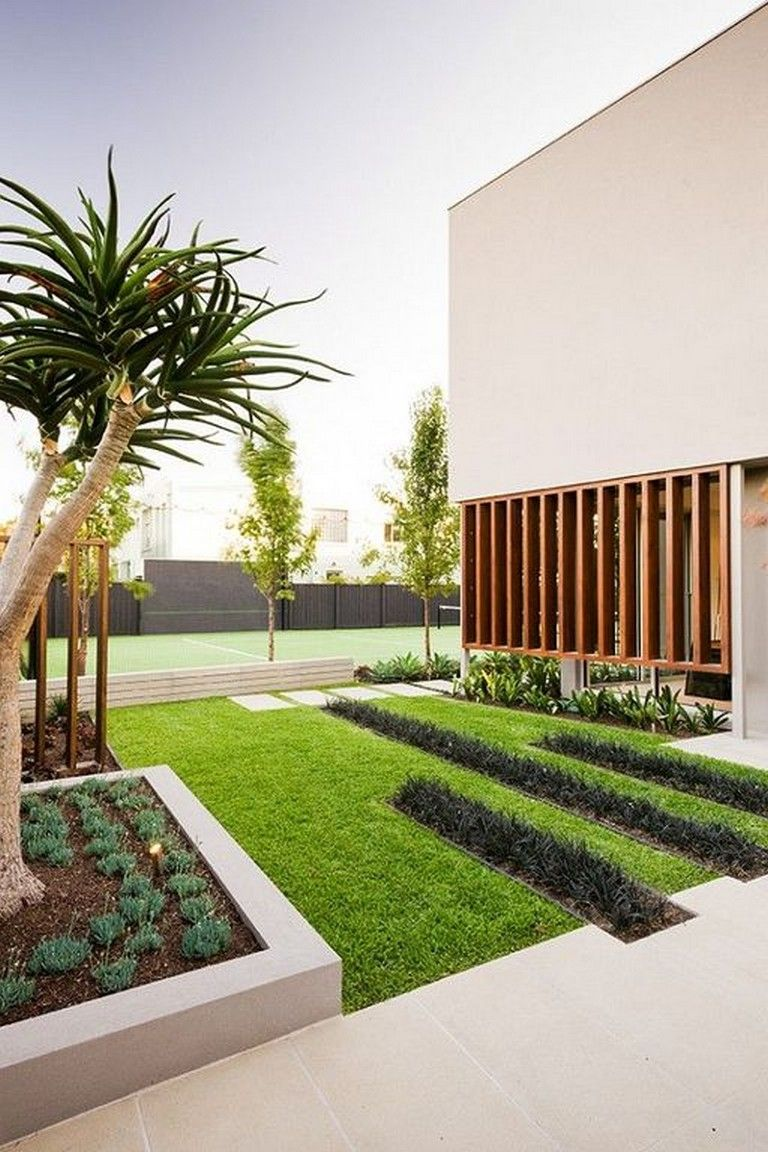 30 Awesome Modern Landscape Architecture Design Ideas Front