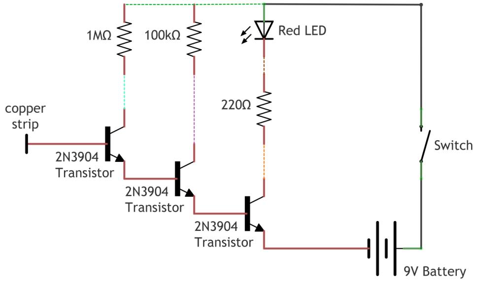 non contact voltage detector circuit