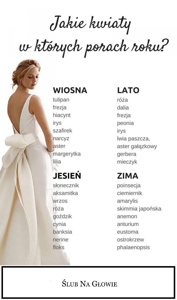 Kwiaty Na 4 Pory Roku Polish Wedding Wedding Wedding Planer