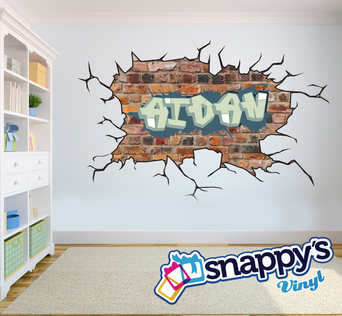Personalised Paint Brush Pallet Any Name Vinyl Wall Art Sticker Decal rooms