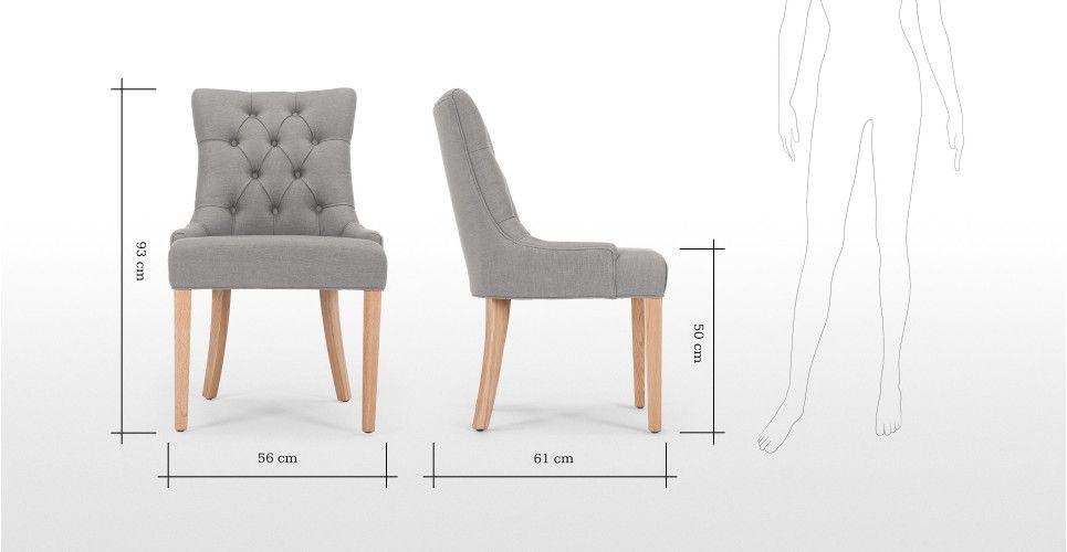 Flynn, une chaise demi-lune, gris graphite | made.com