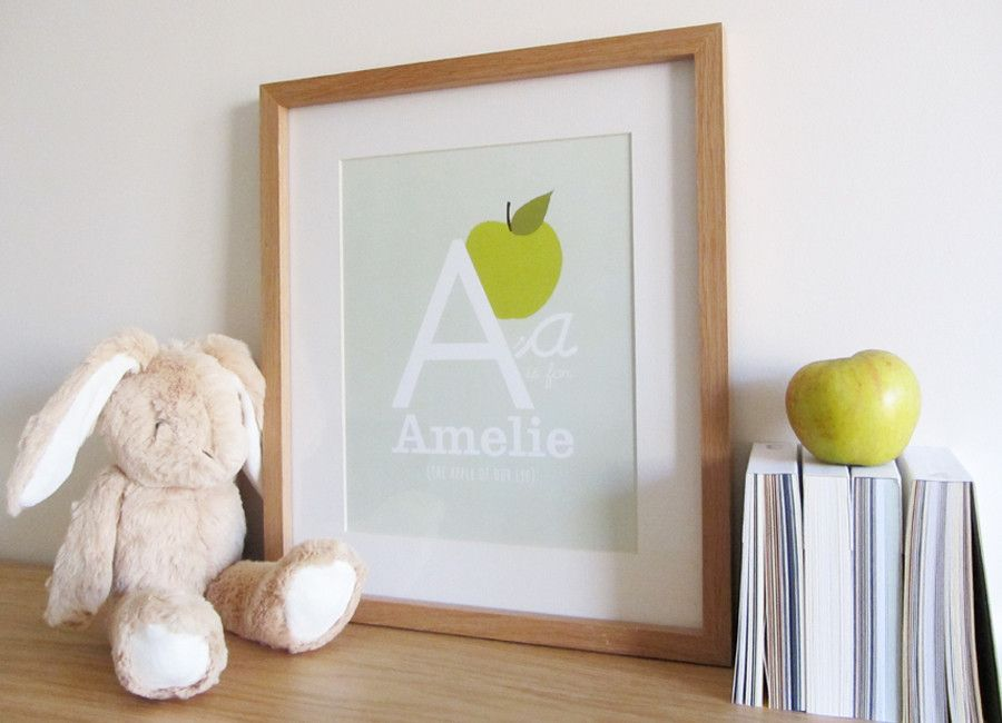 A is for Apple... and also Amelie, beautiful personalised ...
