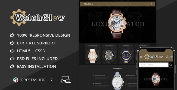 Watch Glow - Prestashop 1.7 Responsive Theme  ⠀  Watch Glow Prestashop Responsive Theme is specially designed & developed for Watch, Jewelry, Women, Fashion, Accessories, Gift, and multi purpose stores.This prestashop Theme is looking good wi...  ⠀  #columns2 #antic #bag #clock #cosmetic #painting #pixothemes #prestashoptheme #services #themeforest #wallpaper #watch #accessories #minimal #fashion #responsive #sports