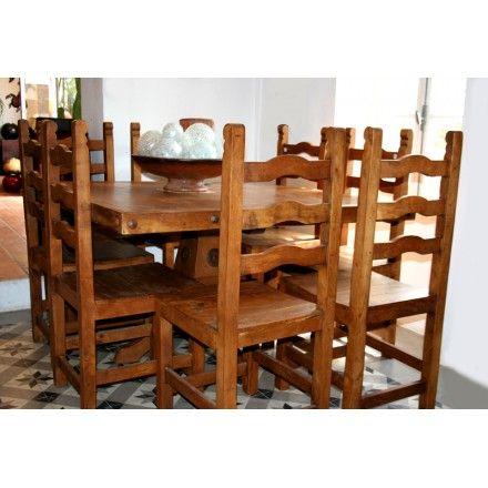 Chaise Bois Exotique Mobilier Mexicain Salle A Manger Ou Exterieur