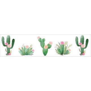 Sweet Jojo Designs Pink and Green Boho Watercolor Cactus