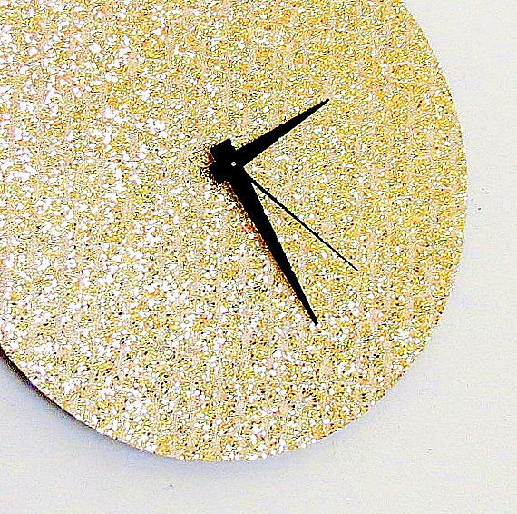 Large Wall Clock, Glitter Wall Clock, Decor and Housewares, Home ...