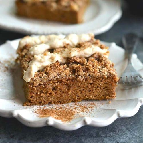 Photo of Pumpkin Spice Coffee Cake with Cashew Cream Frosting