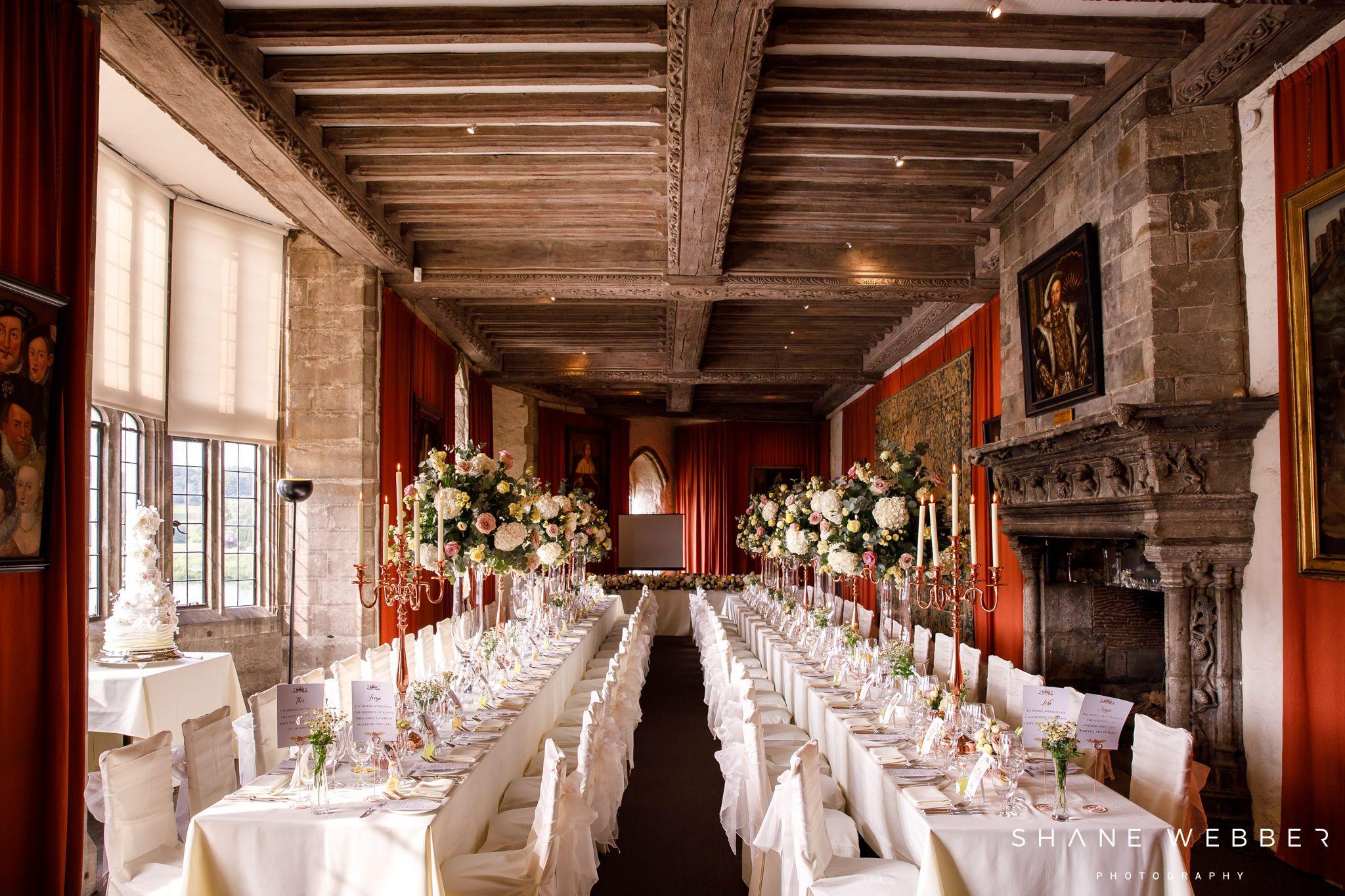 Leeds castle Barons Hall | Castle wedding venue, Castle ...