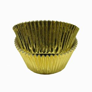 Jumbo Gold Foil Cupcake Liners Large Foil Baking Cups Kitchen