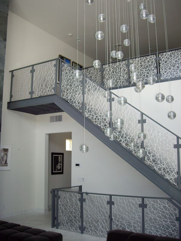 3-Form Eco-Resin Stair Rail Panels by California Closets of Las ...