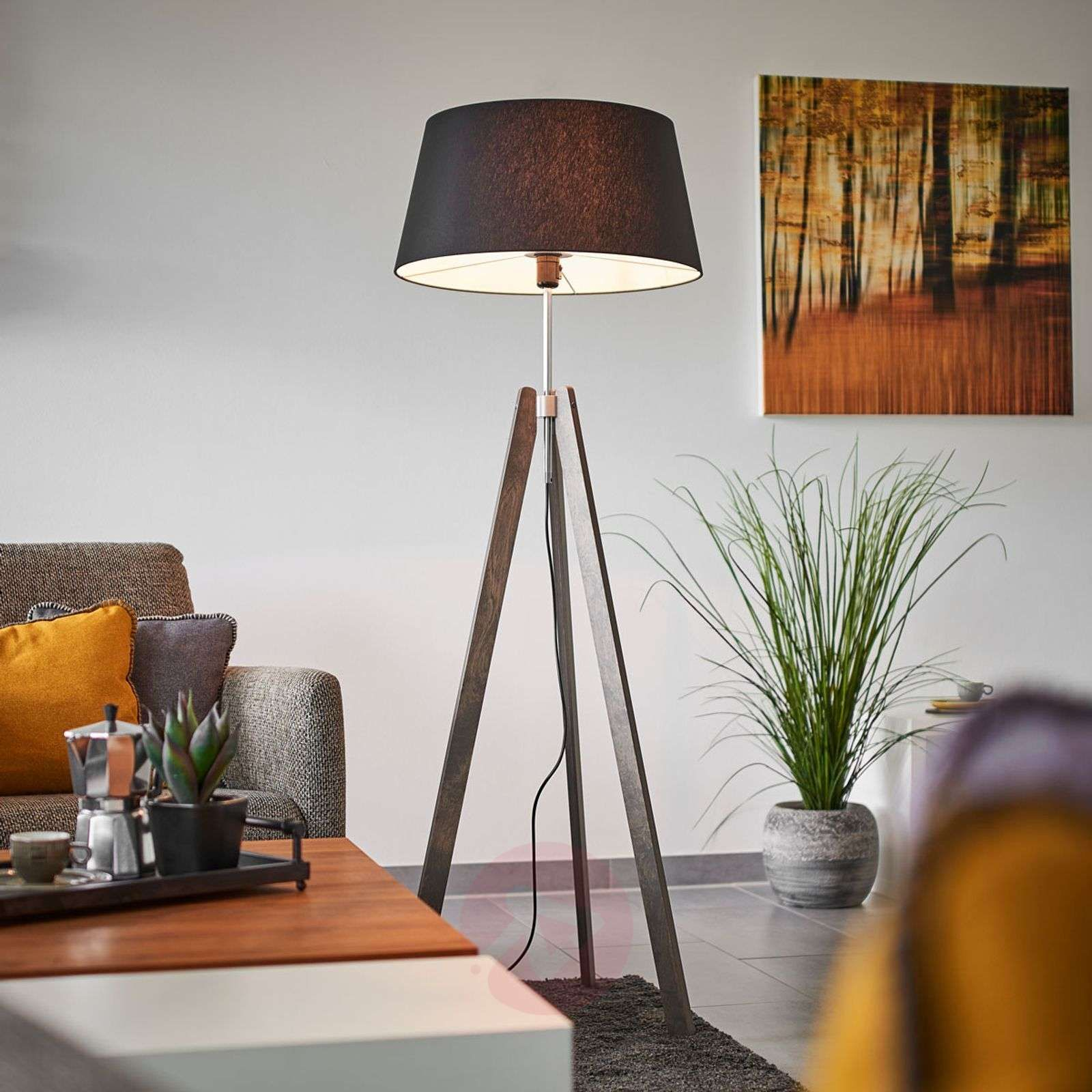 Thea Drewniana Lampa Stojaca Czarny Chintz In 2020 With Images Lampy Lampki Nocne Lampa Podlogowa