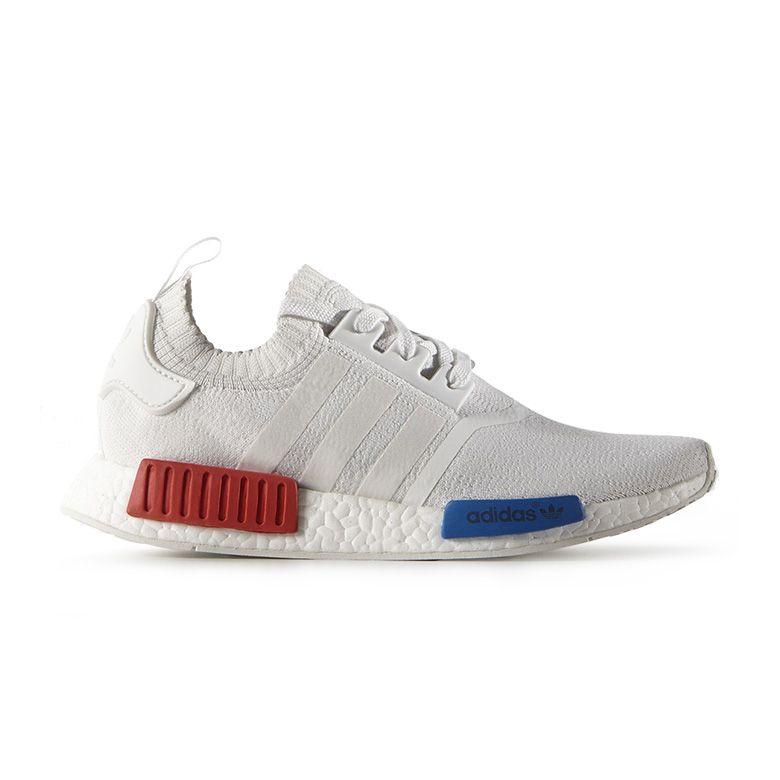 Adidas Nmd Primknit Og White Red Blue as seen on Cruz Beckham
