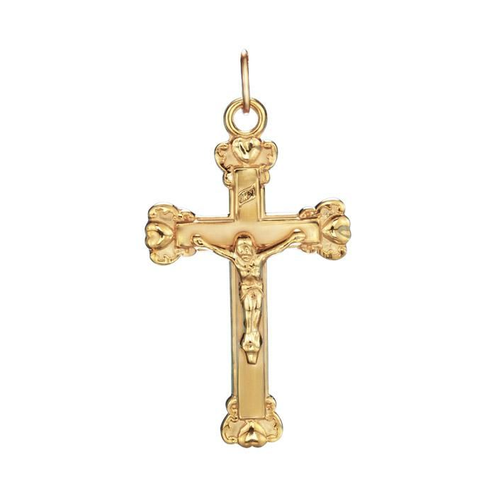 An 18k goldplated sterling silver crucifix pendant pendant 1 14 an 18k goldplated sterling silver crucifix pendant pendant 1 14 aloadofball Images
