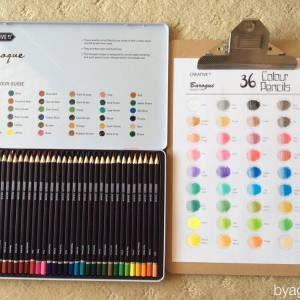 Aldi Art Colouring Haul Free Pencil Swatch Template Colouring