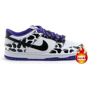 Nike Dunk Low GS Dairy Cattle White Purple white Shoes