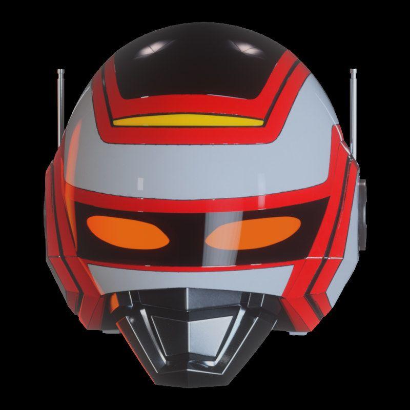 Jaspion Helmet 3d Model Jaspion Tokusatsu