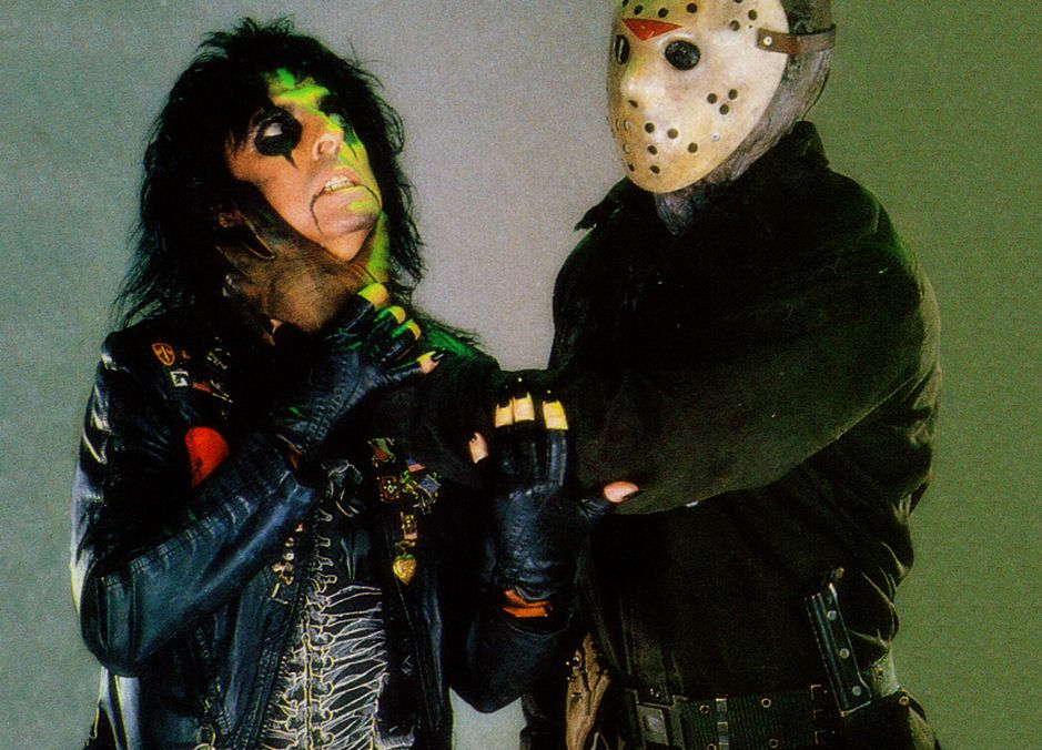 Alice Cooper & Jason from publicity shot for Friday the 13th ...