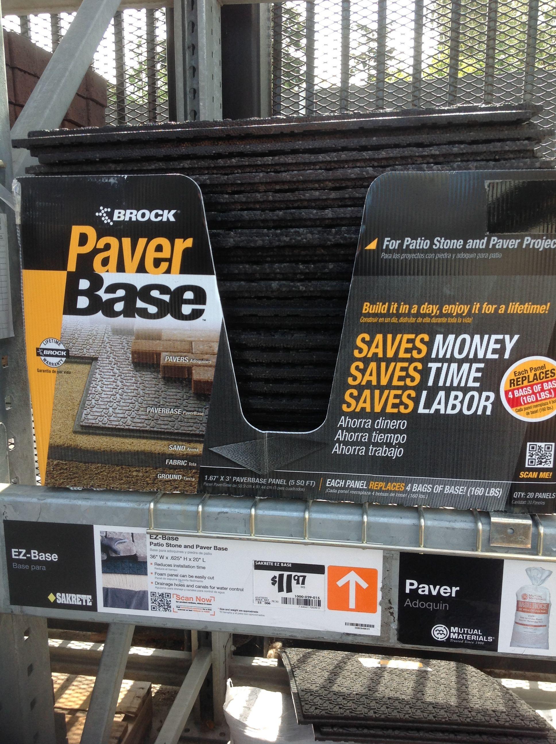 Black Brock Paver Base Panel