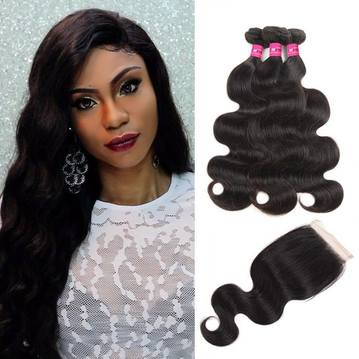Brazilian Body Wave Hair 3 Bundles With 4x4 Closure In 2018 Body