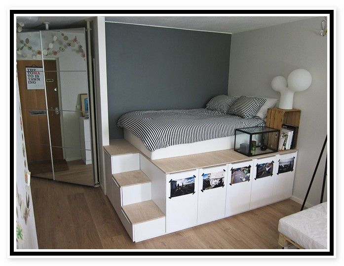 Ikea Platform Bed With Storage | Bedroom Style | Pinterest